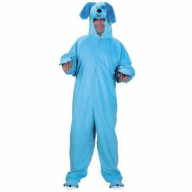 Blauw honden verkleedkleren voor volwassenen
