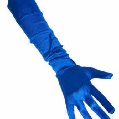 Blauwe handschoenen gala
