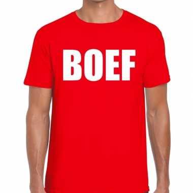 Boef heren t-shirt rood