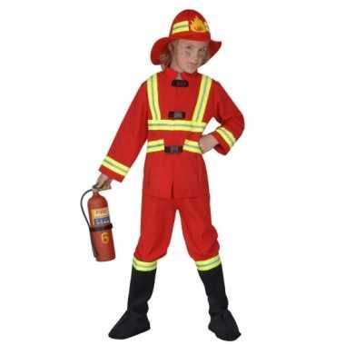 Brandweer verkleedkleren kids rood