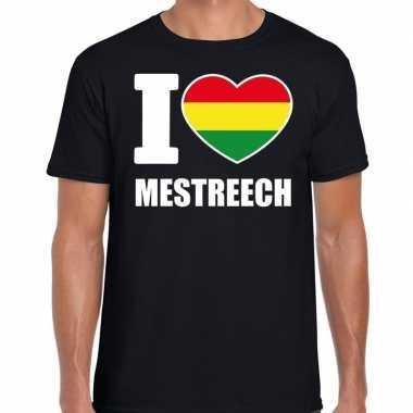 Carnaval i love mestreech t shirt zwart voor heren