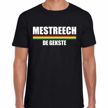 Carnaval mestreech de gekste t shirt zwart voor heren