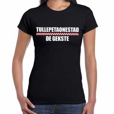 Carnaval tullepetaonestad de gekste t shirt zwart voor dames