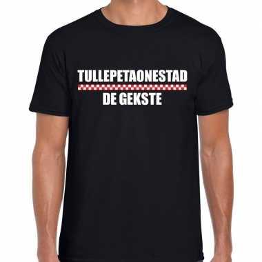Carnaval tullepetaonestad de gekste t shirt zwart voor heren