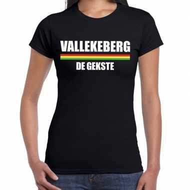 Carnaval vallekeberg de gekste t shirt zwart voor dames