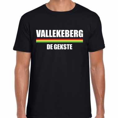 Carnaval vallekeberg de gekste t shirt zwart voor heren