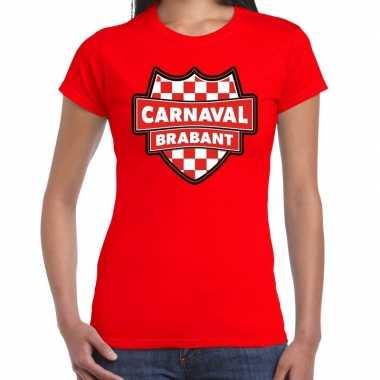 Carnaval verkleed t shirt brabant rood voor voor dames