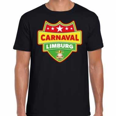 Carnaval verkleed t shirt limburg zwart voor heren