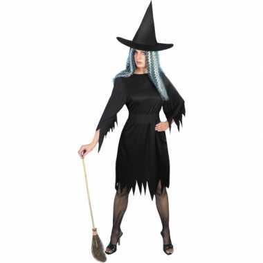 Enge heksen verkleedkleren zwart