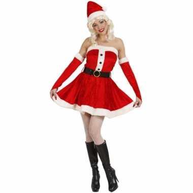 Fluwelen kerst verkleedkleren voor dames