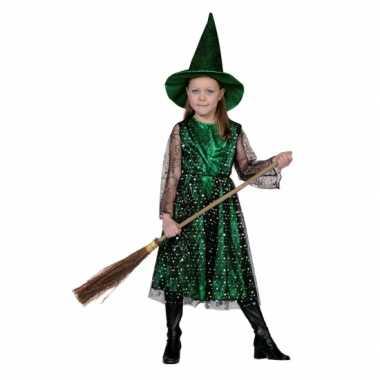 Groene heksen verkleedkleren kinderen
