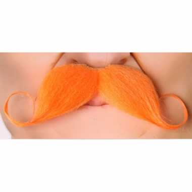 Grote koningsdag verkleedkleren accessoire oranje snor