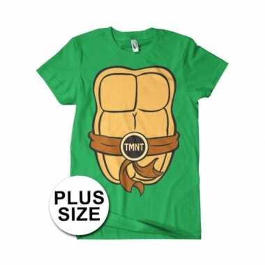 Grote maat ninja turtles verkleed t shirt voor heren