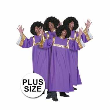 Grote maten gospel zanger verkleedkleren