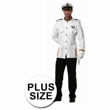 Grote maten kapitein verkleedkleren voor heren