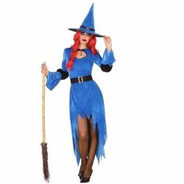 Halloween blauwe heksen verkleedkleren voor dames