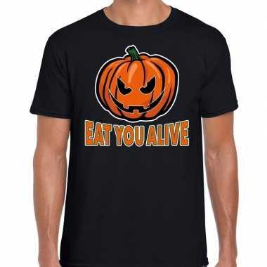 Halloween eat you alive verkleed t shirt zwart voor heren