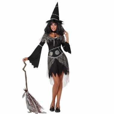 Halloween halloween zwarte heksen verkleedkleren voor dames