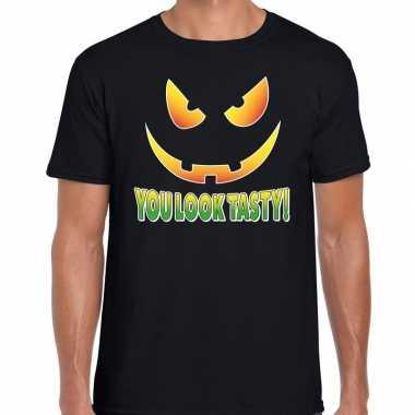 Halloween you look tasty verkleed t shirt zwart voor heren
