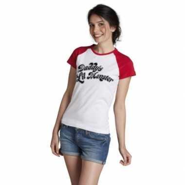 Harley quinn verkleed t-shirt voor dames