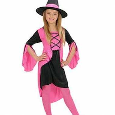 Heksen verkleedkleren roze kinderen