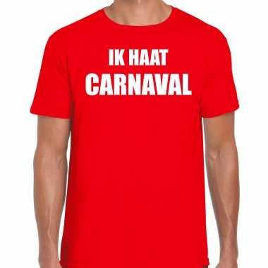 Ik haat carnaval verkleed t shirt / verkleedkleren rood voor heren