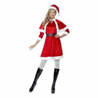 Kerst verkleedkleren voor dames met cape