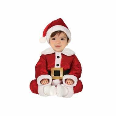 Kerstman baby verkleed verkleedkleren 3 delig