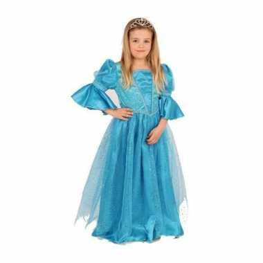 Luxe blauw prinses verkleedkleren voor meisjes