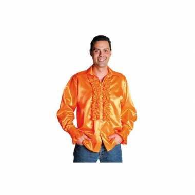 Luxe rouches verkleedkleren oranje