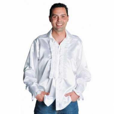 Luxe rouches verkleedkleren wit