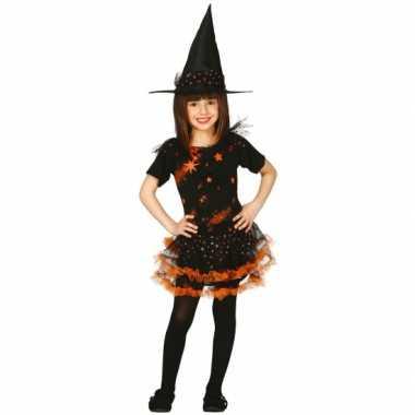 Oranje heksen verkleedkleren kinderen