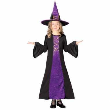 Paarse heksen verkleedkleren kinderen