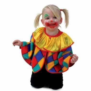 Peuter verkleed poncho clown