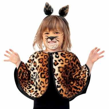 Peuter verkleed poncho luipaard/panter