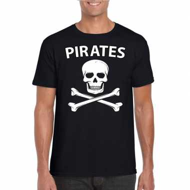 Piraten verkleed shirt zwart heren
