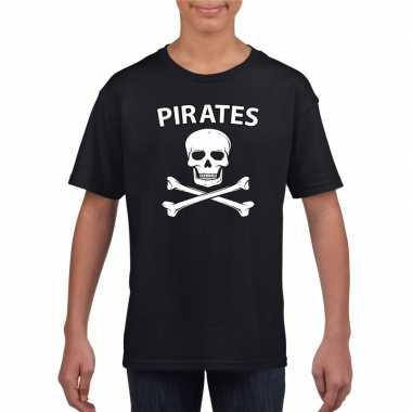 Piraten verkleed shirt zwart kinderen