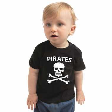 Piraten verkleedkleren shirt zwart voor peuters