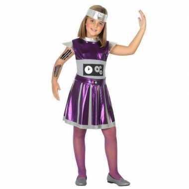 Robot verkleed verkleedkleren/ verkleedkleren voor meisjes