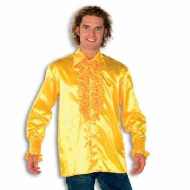 Rouche overhemd voor heren geel