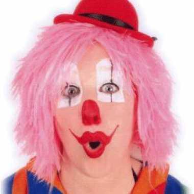 Roze clownspruiken