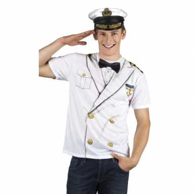 Shirt kapiteins verkleedkleren opdruk heren
