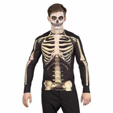 Shirt skelet verkleedkleren opdruk heren