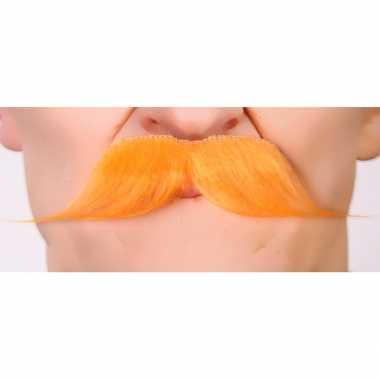 Snor koningsdag verkleedkleren accessoire oranje