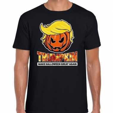 Trumpkin make halloween great again t shirt zwart voor heren