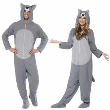 Verkleedkleren wolf voor volwassenen