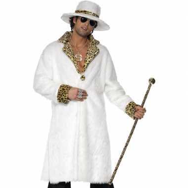 Wit pooier verkleedkleren voor heren