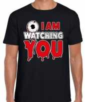 Halloween i am watching you verkleed t-shirt zwart voor heren