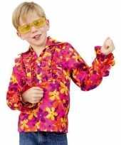 Hippie verkleedkleren met rouches voor kinderen