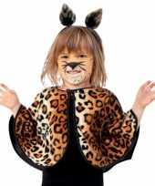 Peuter verkleed poncho luipaard panter